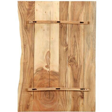 Hommoo Bathroom Vanity Top Solid Acacia Wood 80x55x2.5 cm QAH36728