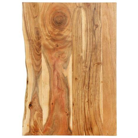 Hommoo Bathroom Vanity Top Solid Acacia Wood 80x55x2.5 cm VD36728