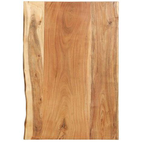 Hommoo Bathroom Vanity Top Solid Acacia Wood 80x55x3.8 cm VD36729