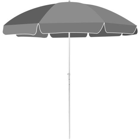 Hommoo Beach Umbrella 240 cm Anthracite