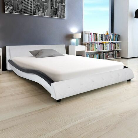 Hommoo Bed Frame Artificial Leather 5FT King Size/150x200 cm VD33069