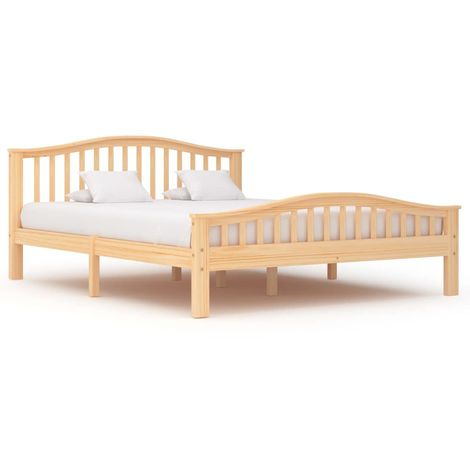 Hommoo Bed Frame Solid Pinewood 160x200 cm VD36219
