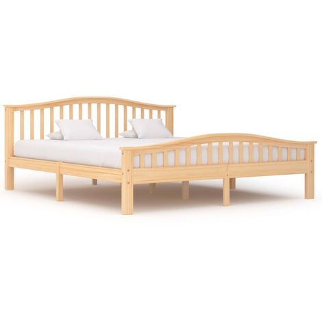 Hommoo Bed Frame Solid Pinewood 180x200 cm VD36220