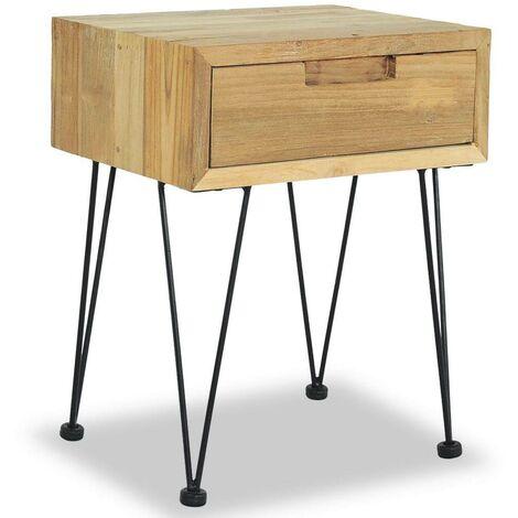 Hommoo Bedside Cabinet 40x30x50 cm Solid Teak