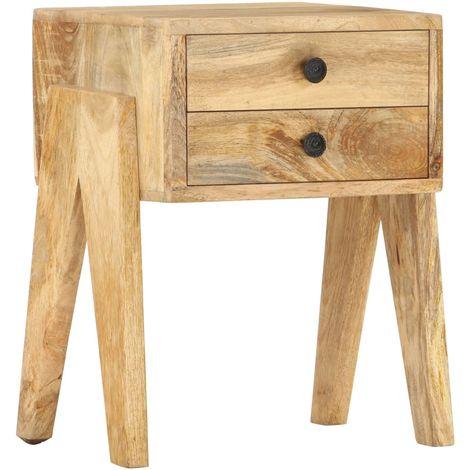 Hommoo Bedside Cabinet 40x35x50 cm Solid Mango Wood