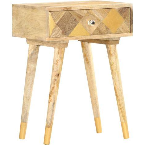 Hommoo Bedside Cabinet 43x30x58 cm Solid Mango Wood