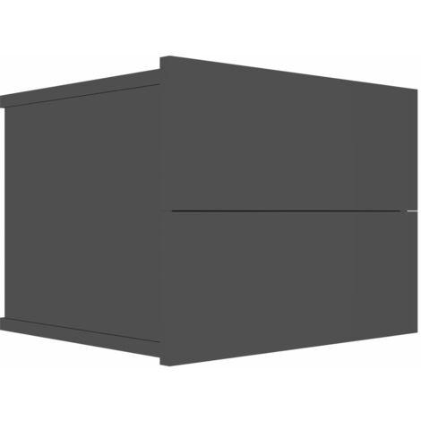 Hommoo Bedside Cabinet High Gloss Black 40x30x30 cm Chipboard QAH47412