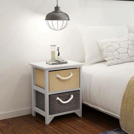 Hommoo Bedside Cabinet Wood