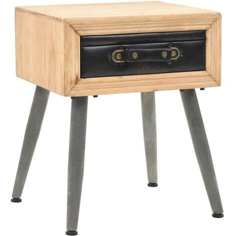 Hommoo Bedside Table Solid Fir Wood 43x38x50 cm