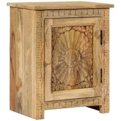 Hommoo Bedside Table Solid Mango Wood 40x30x50 cm