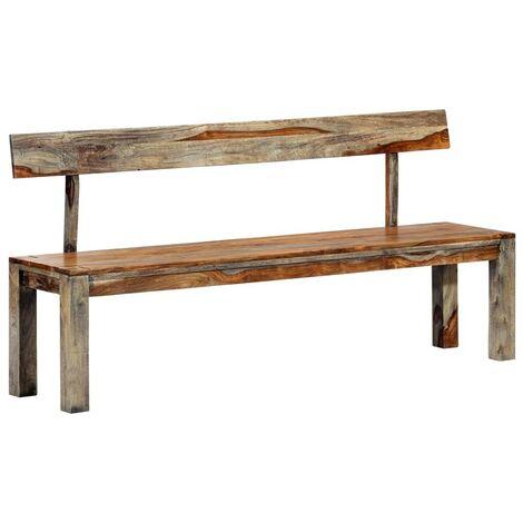 Hommoo Bench 160 cm Grey Solid Sheesham Wood