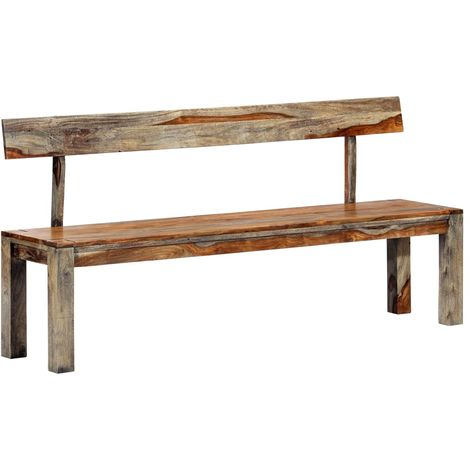 Hommoo Bench 160 cm Grey Solid Sheesham Wood VD13858