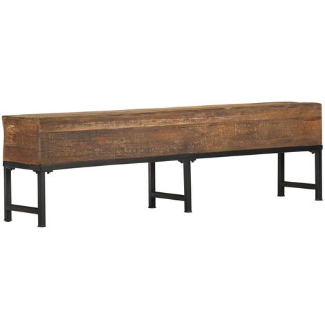 Hommoo Bench 160 cm Solid Reclaimed Wood