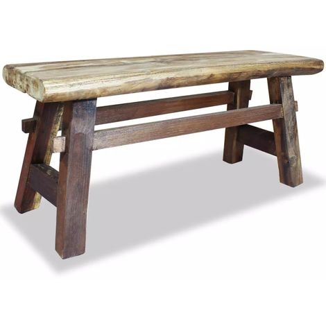 Hommoo Bench Solid Reclaimed Wood 100x28x43 cm