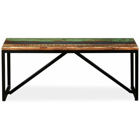Hommoo Bench Solid Reclaimed Wood 110x35x45 cm QAH10923