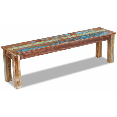 Hommoo Bench Solid Reclaimed Wood 160x35x46 cm