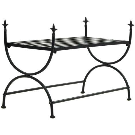 Hommoo Bench Vintage Style Metal 83x42x55 cm Black