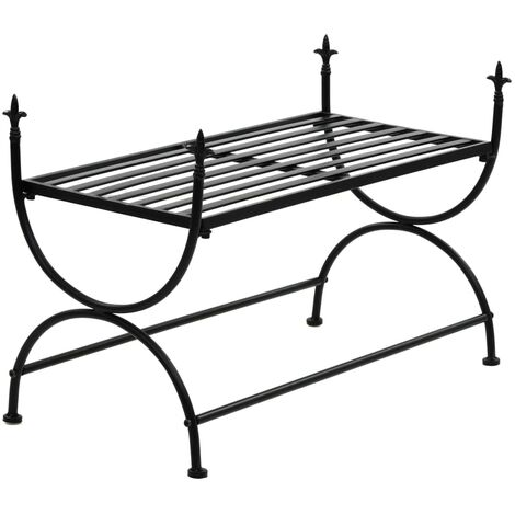 Hommoo Bench Vintage Style Metal 83x42x55 cm Black QAH11883