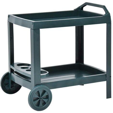 Hommoo Beverage Cart Green 69x53x72 cm Plastic VD46702