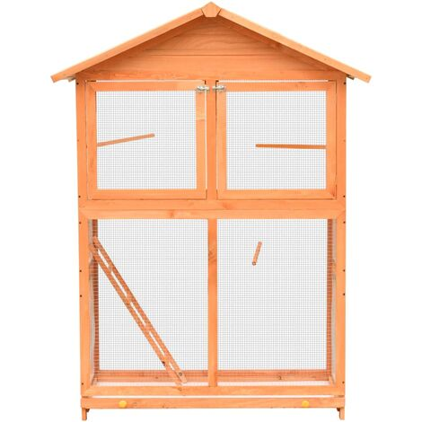 Hommoo Bird Cage Solid Pine & Fir Wood 120x60x168 cm QAH07194