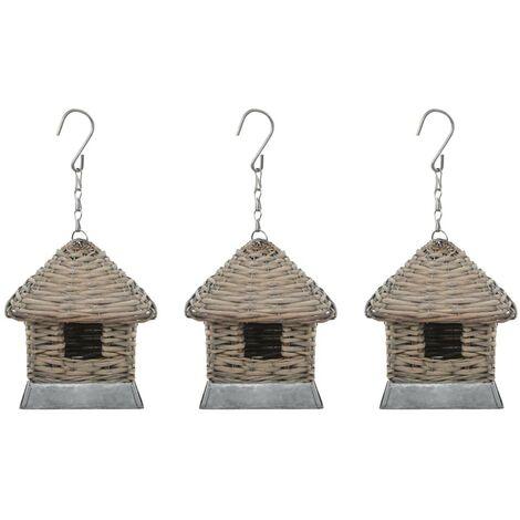 Hommoo Bird Houses 3 pcs Wicker