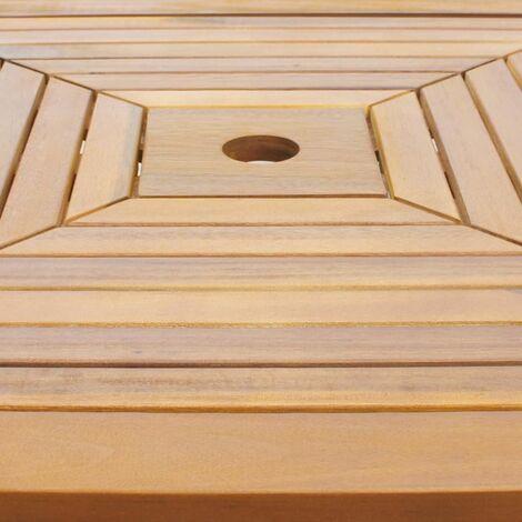 Hommoo Bistro Table 75x75x110 cm Solid Acacia Wood QAH27165