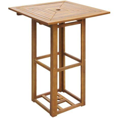 Hommoo Bistro Table 75x75x110 cm Solid Acacia Wood VD27165