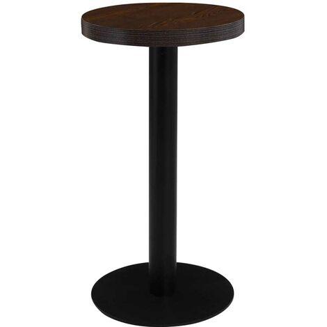 Hommoo Bistro Table Dark Brown 40 cm MDF