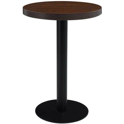 Hommoo Bistro Table Dark Brown 60 cm MDF