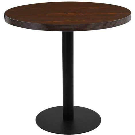 Hommoo Bistro Table Dark Brown 80 cm MDF
