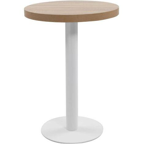 Hommoo Bistro Table Light Brown 60 cm MDF