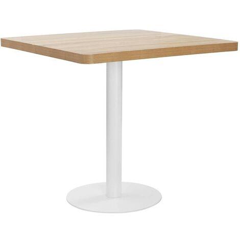 Hommoo Bistro Table Light Brown 80X80 cm MDF