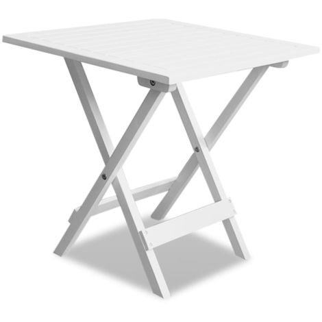 Hommoo Bistro Table White 46x46x47 cm Solid Acacia Wood
