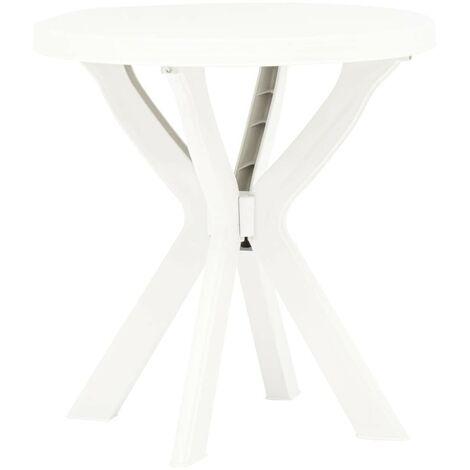 Hommoo Bistro Table White Ø70 cm Plastic