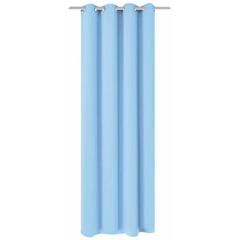 Hommoo Blackout Curtain with Metal Eyelets 270x245 cm Turquoise
