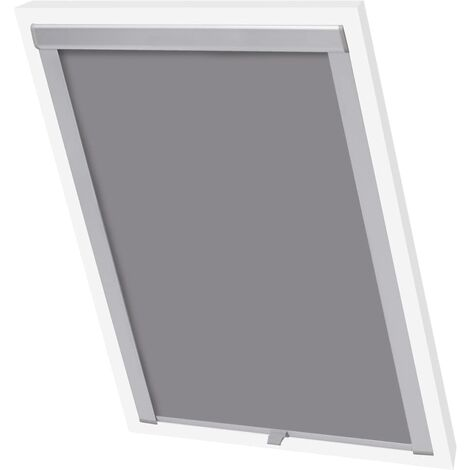 Hommoo Blackout Roller Blind Grey MK08 QAH02447