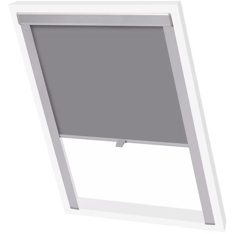 Hommoo Blackout Roller Blinds Grey P08/408 VD00771