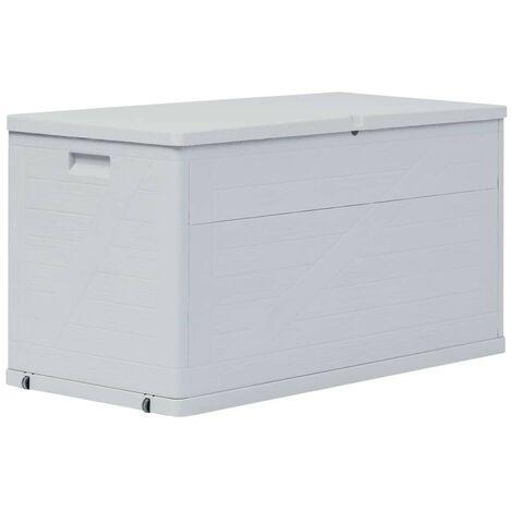 Hommoo Boîte de rangement de jardin 420 L Gris clair HDV29816