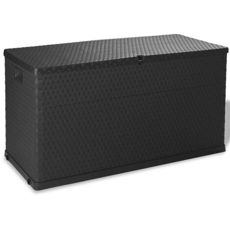 Hommoo Boîte de rangement de jardin Anthracite 120x56x63 cm HDV27998