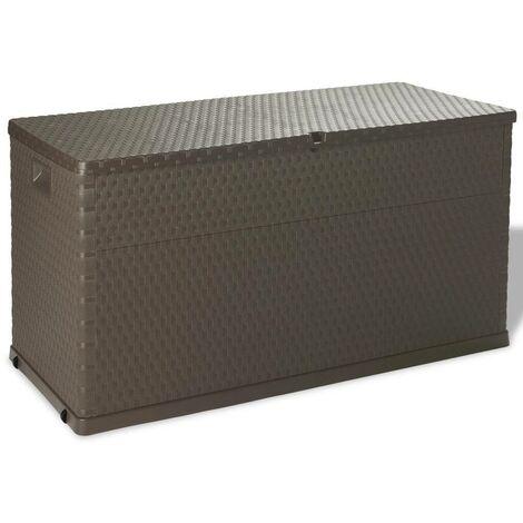 Hommoo Boîte de rangement de jardin Marron 120x56x63 cm HDV27997