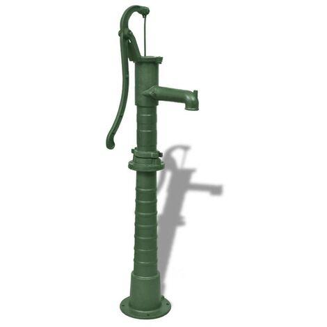 Hommoo Bomba de agua de jardín con soporte hierro fundido