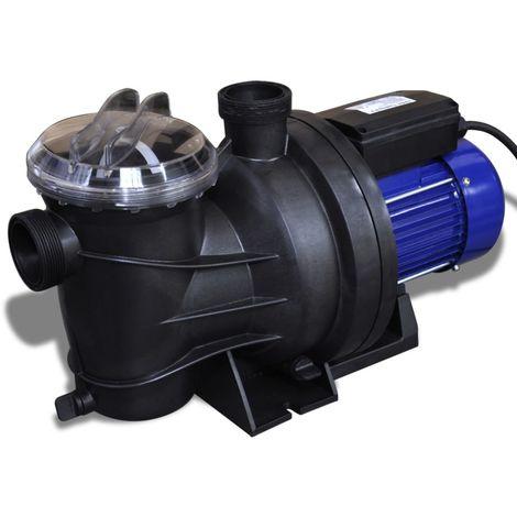 Hommoo Bomba de piscina eléctrica 800 W azul