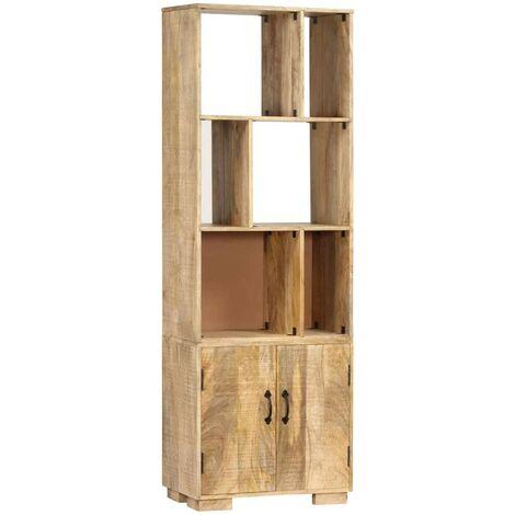 Hommoo Bookshelf 60x35x180 cm Solid Mango Wood