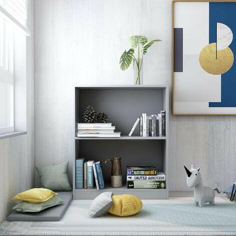 "main image of ""Hommoo Bookshelf Grey 60x24x74.5 cm Chipboard VD31774"""