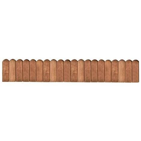 Hommoo Border Roll Brown 120 cm Impregnated Pinewood