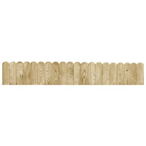 Hommoo Border Rolls 2 pcs 120 cm Impregnated Pinewood QAH40188