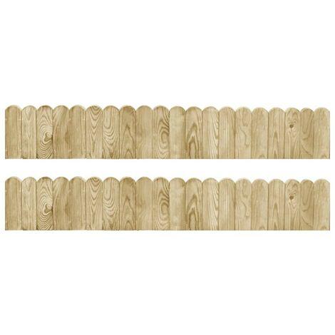 Hommoo Border Rolls 2 pcs 120 cm Impregnated Pinewood VD40188