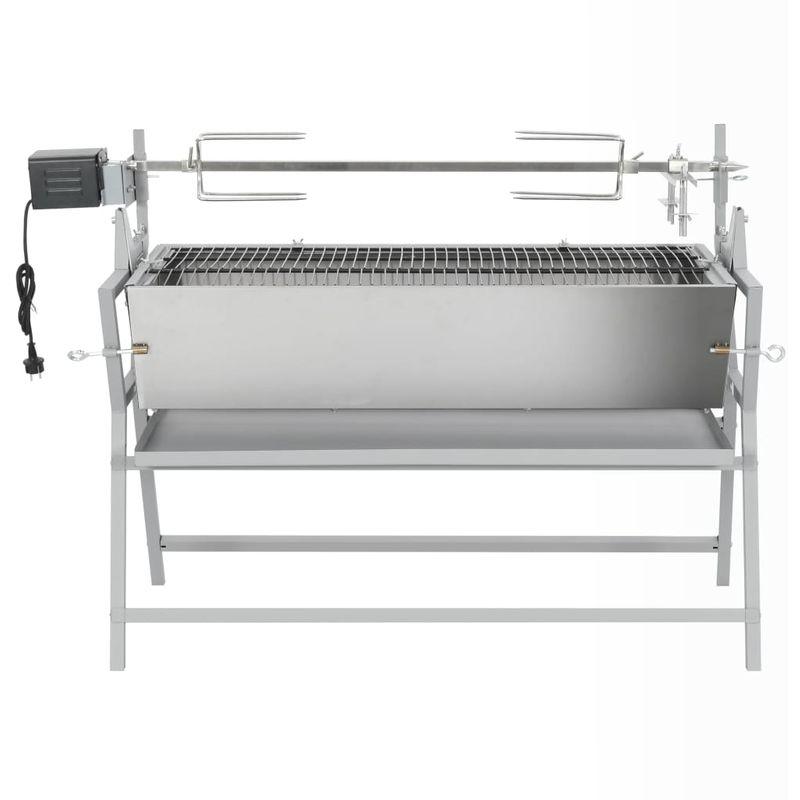 Broche à rôtir de barbecue Fer et acier inoxydable