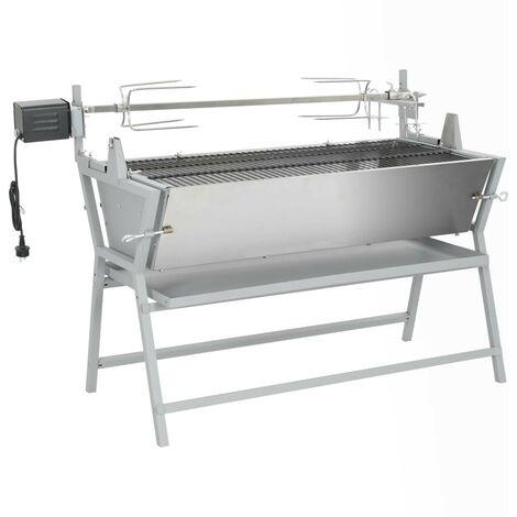 Hommoo Broche à rôtir de barbecue Fer et acier inoxydable HDV26467