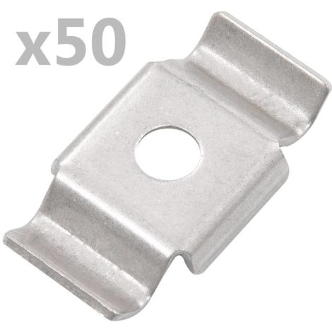 Hommoo Butterfly Fence Clips 50 pcs Stainless Steel